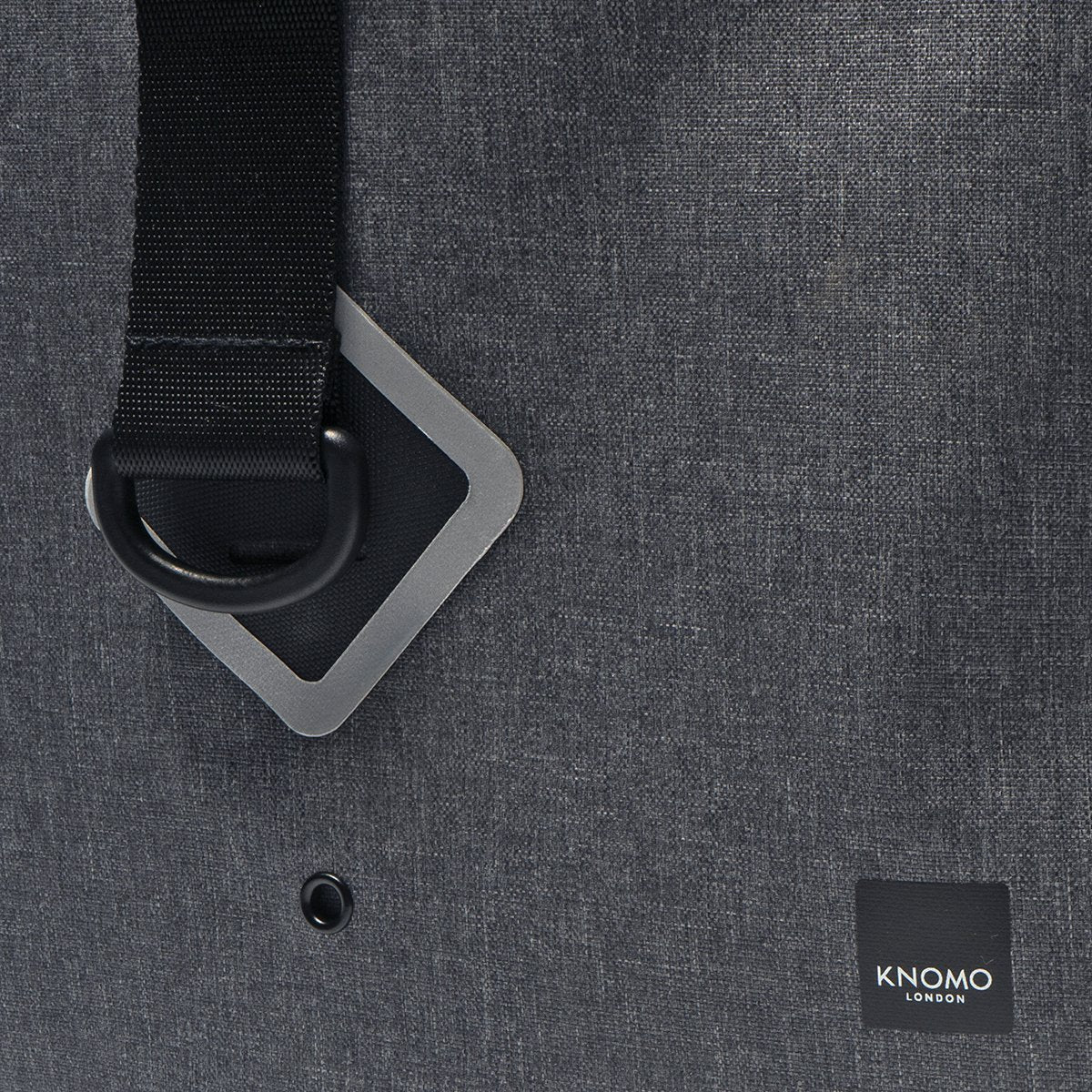 "KNOMO Kew Roll-Top Laptop Backpack Close Up Strap 15"" -  Grey 