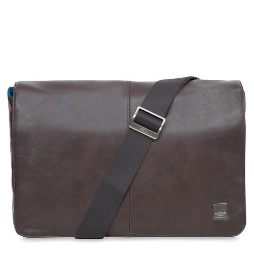 "KNOMO Kinsale Leather Laptop Messenger Bag - 13"" From Front 