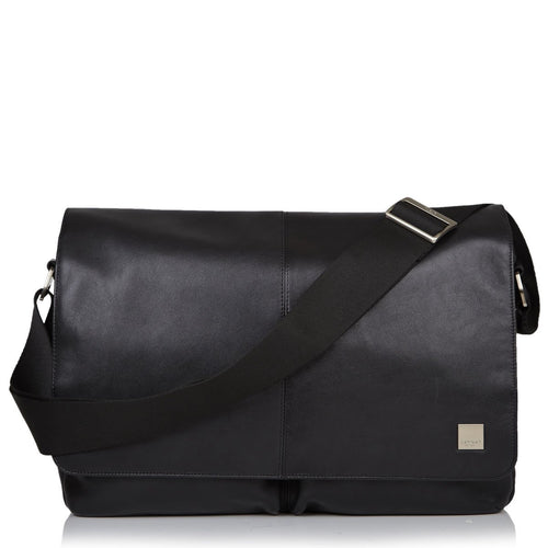 "Leather Laptop Messenger Bag - 15"" - Kobe 