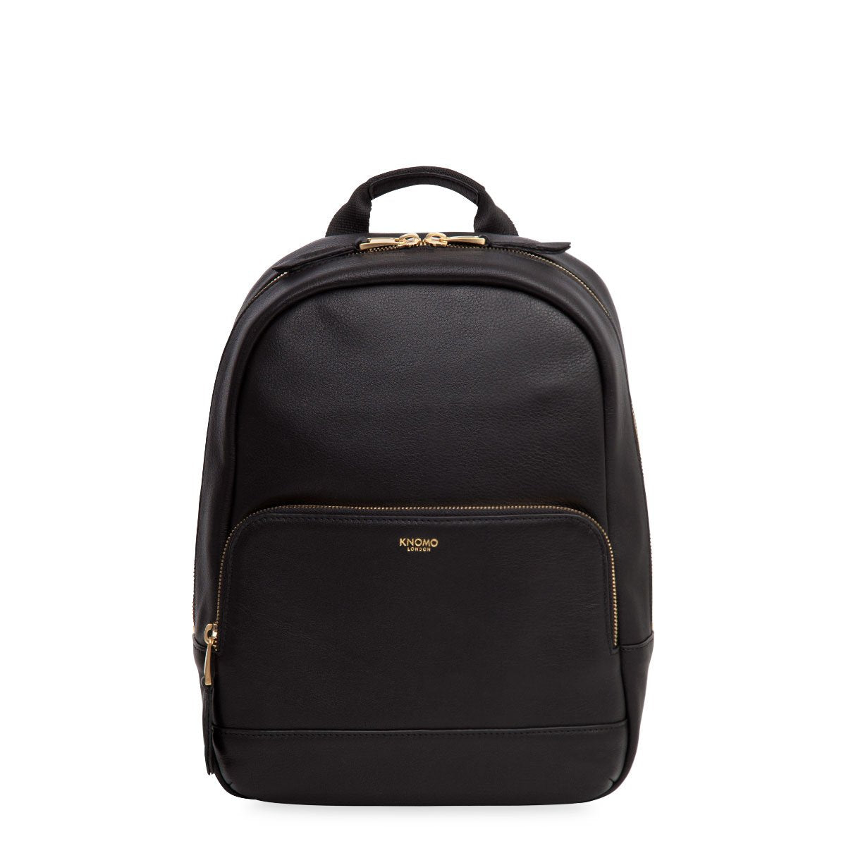 "Mini Mount Leather Mini Backpack - 10"" -  Black 