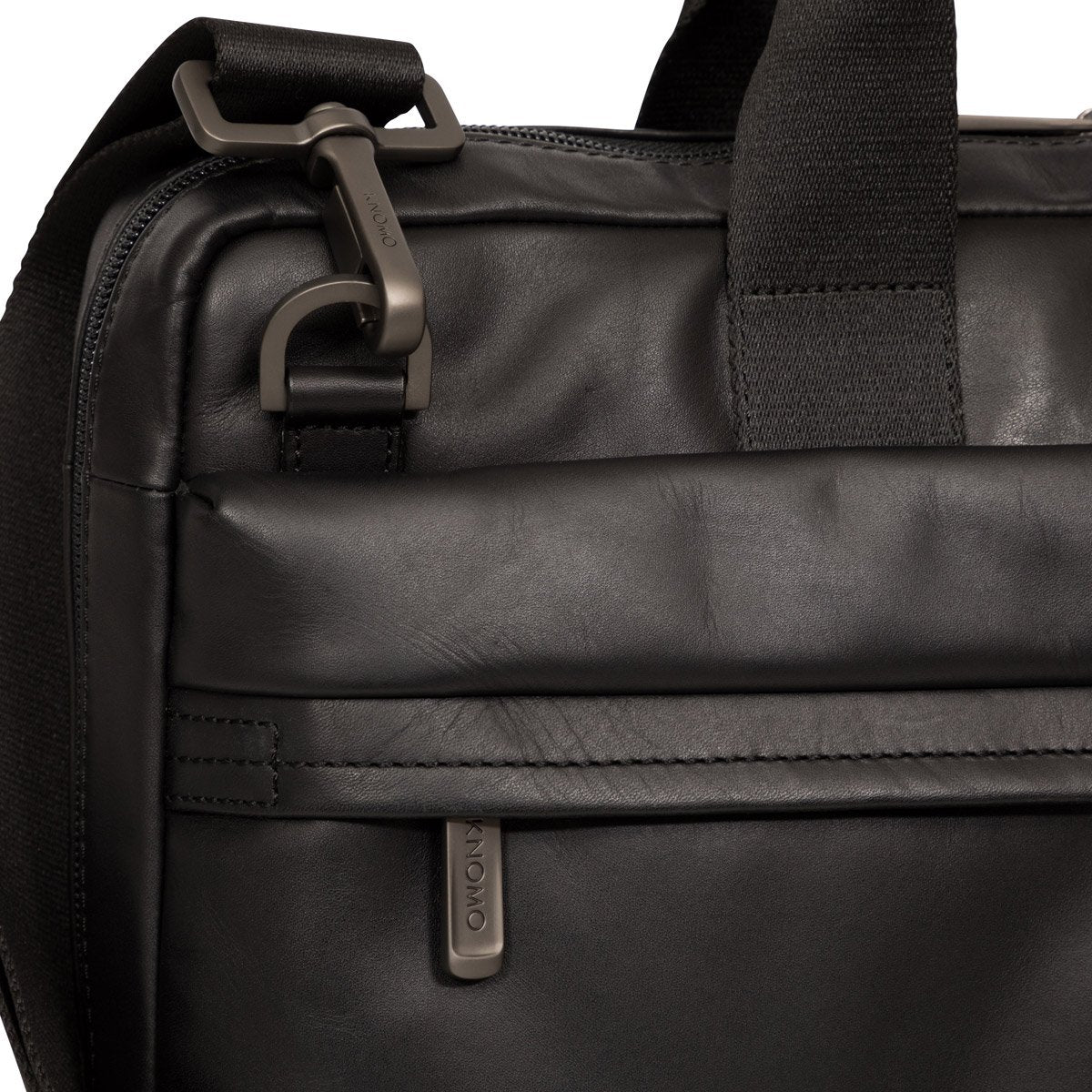"Foster 14"" Men's Leather Laptop Briefcase Black – KNOMO"