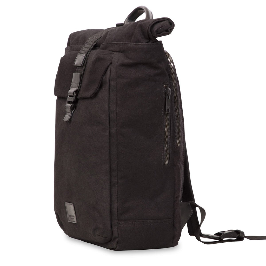 "Novello Canvas Roll Top 15"" Laptop Backpack - Black – KNOMO"