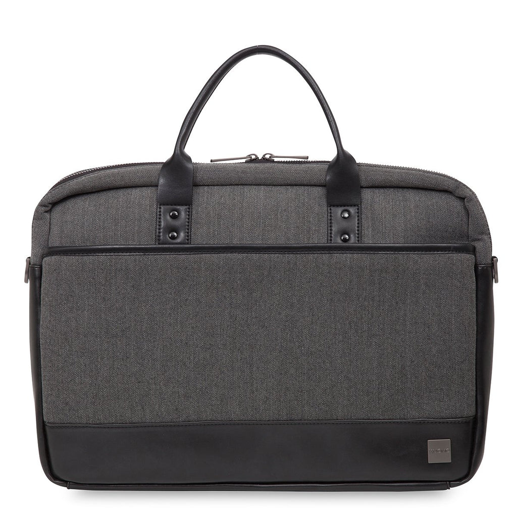 "Princeton Mens Lightweight 15.6"" Laptop Briefcase - Grey – KNOMO"