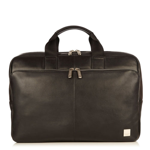 "KNOMO Newbury Leather Laptop Briefcase - 15"" From Front 