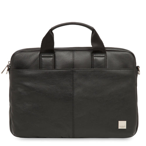 "KNOMO Stanford Leather Laptop Briefcase - 13"" From Front 