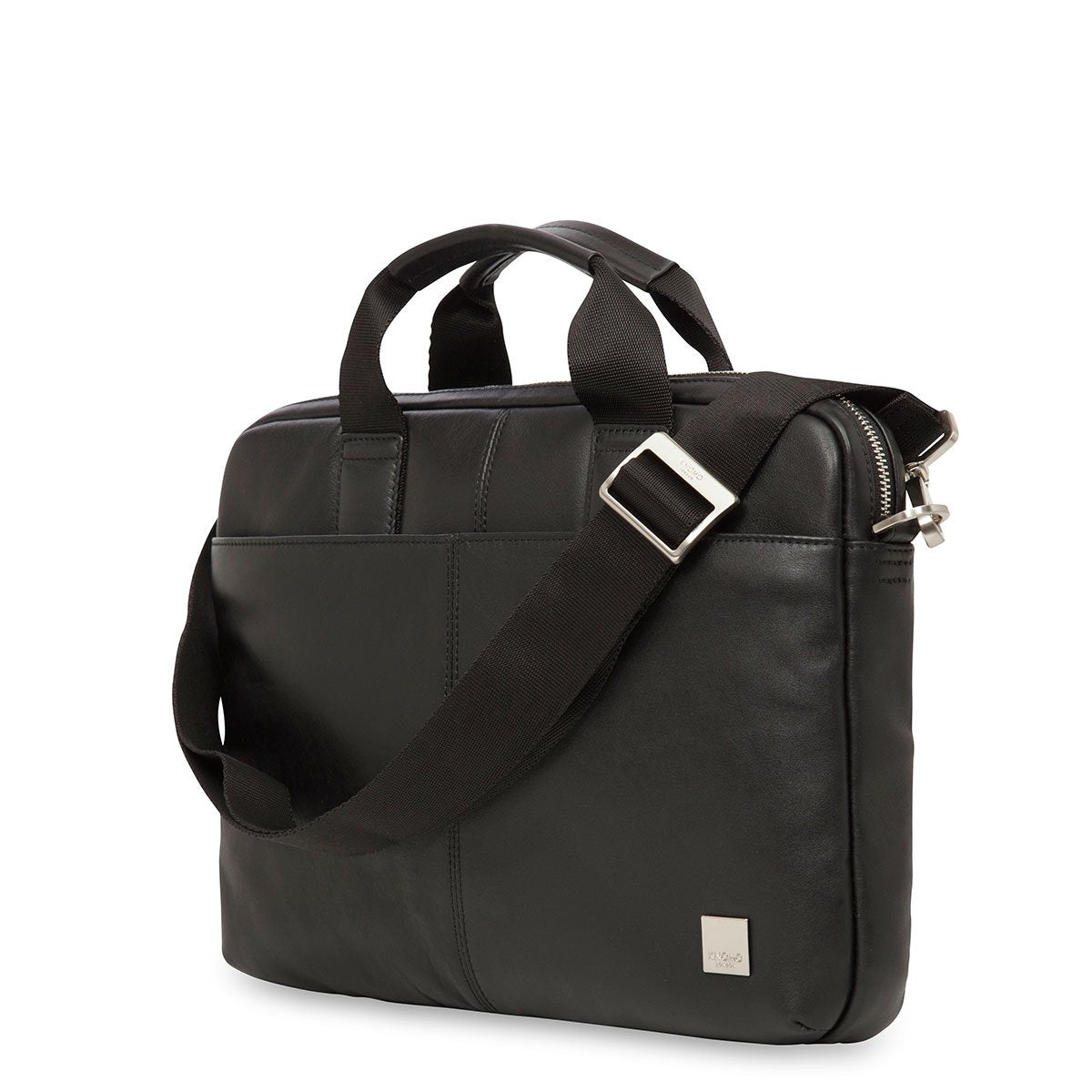 "KNOMO Stanford Laptop Briefcase Three Quarter View With Strap 13"" -  Black 