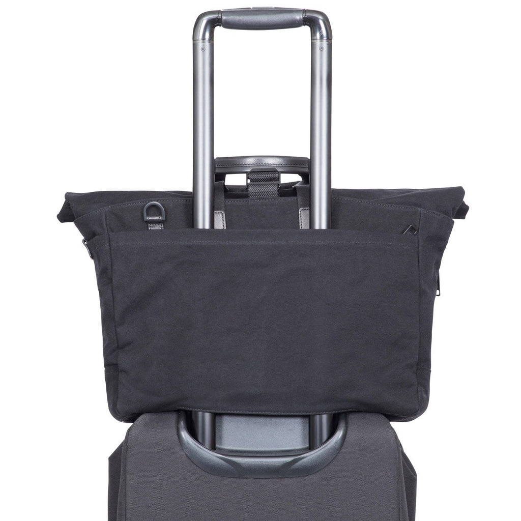 "Sullivan Water Resistant Roll Top 15"" Laptop Briefcase - Black – KNOMO"