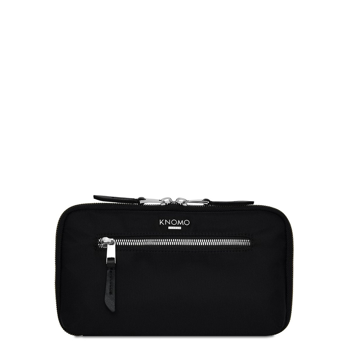 "KNOMO Knomad Travel Wallet Travel Organiser From Front 8"" -  Black 