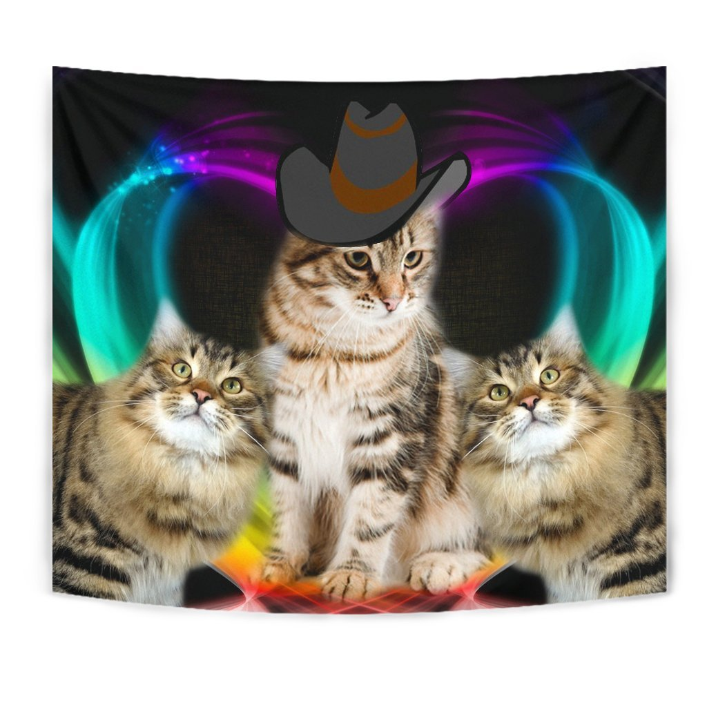 Cute Siberian Cat Print Tapestry-Free Shipping