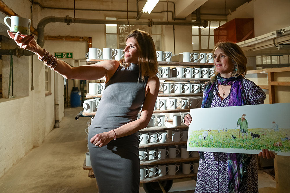 Illustrating and Manufacturing The Yorkshire Shepherdess Mug