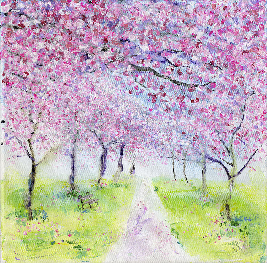 Online charity auction for 'Cherry Blossom Archway' original painting