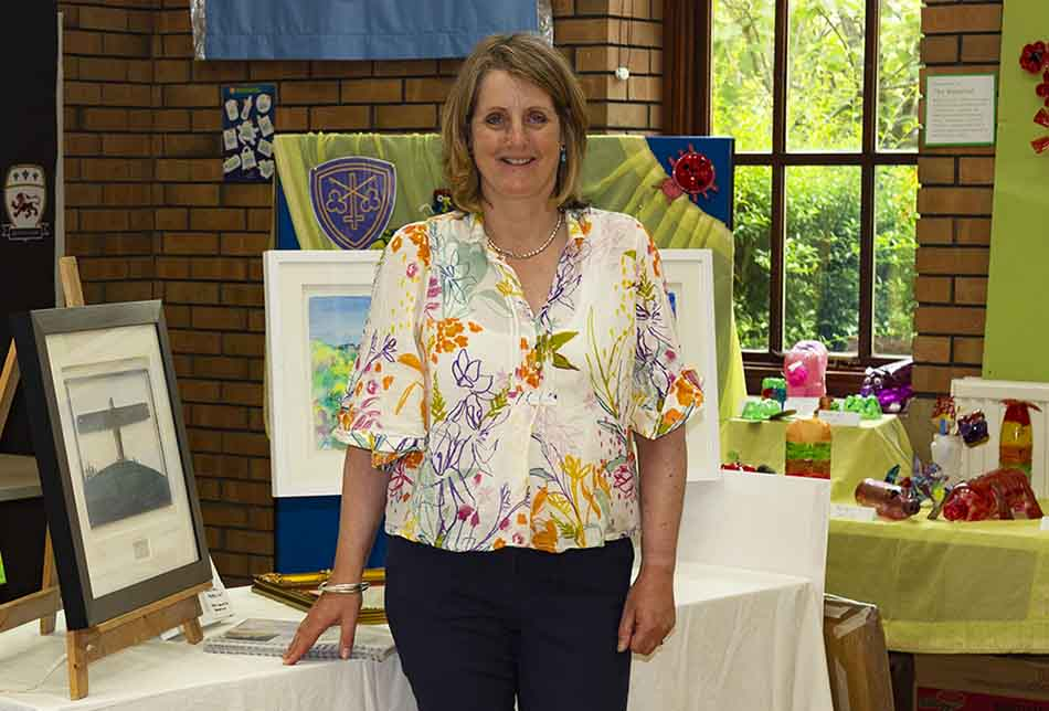 Anita Bowerman at Aireborough Learning Partnership Trust art exhibition