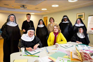 Anita Bowerman with the Nuns of Stanbrook Abbey