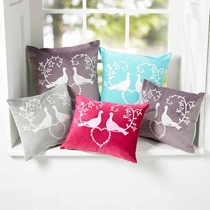 A range of designer cushions by Yorkshire artist Anita Bowerman