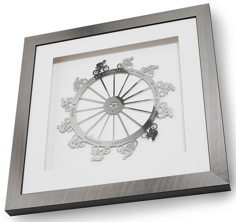 Tour de France World's Greatest Cycle Race Stainless Steel Artwork