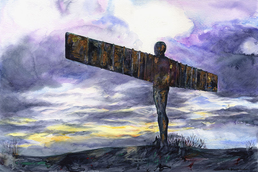 Empowering Angel of the North, Newcastle (Limited Edition Giclée Print)