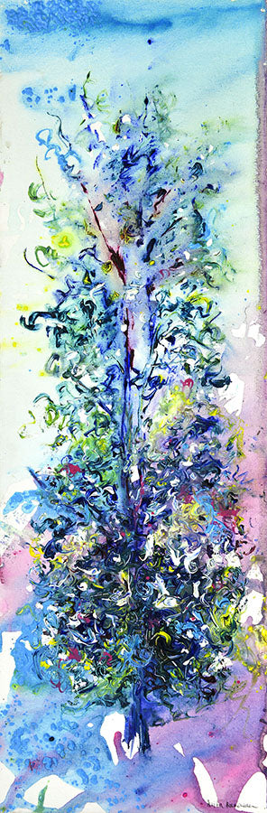 Impressionist Tree (Original Painting, Unframed)