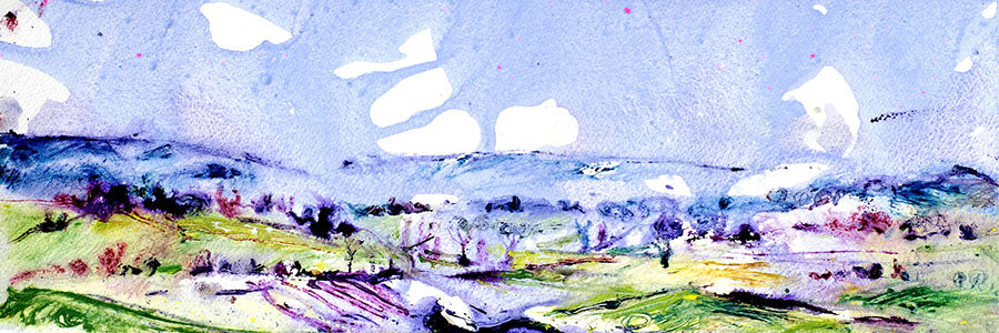 Misty Morning in Wharfedale (Original Painting, Unframed)