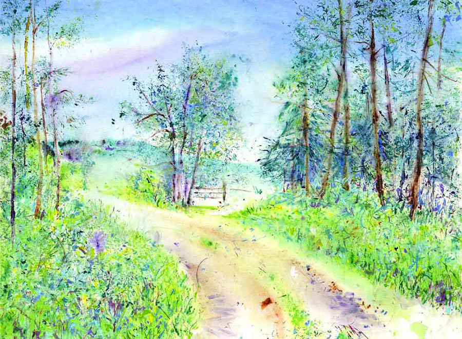 Summers Pathway (Limited Edition Giclée Print)