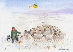 Amanda Owen, The Yorkshire Shepherdess and Her Flock at Swaledale, Giclée print