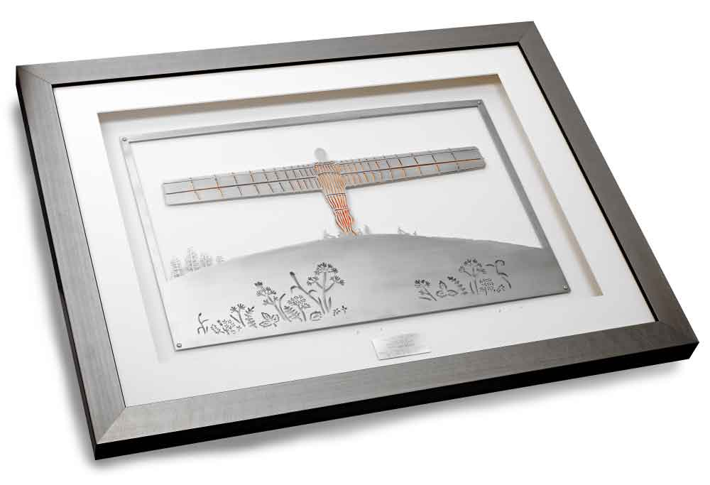 Angel of the North, framed limited edition stainless steel artwork