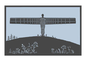 Angel of the North paper cut in grey, unframed Giclée limited edition print