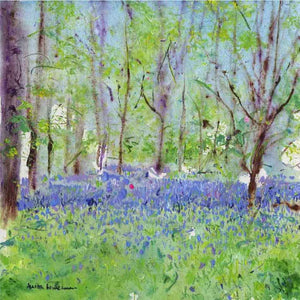 Bluebells Study, unframed original painting