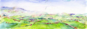 Breathtaking Morning in the Wharfedale Valley, unframed original painting