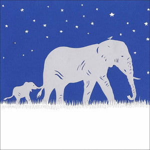 Elephants Under the Stars, unframed giclée limited edition print