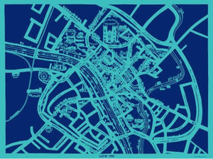 Enjoy York Map, unframed Giclée limited edition print