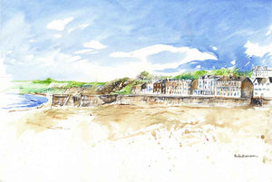 Filey from the Beach, unframed original painting