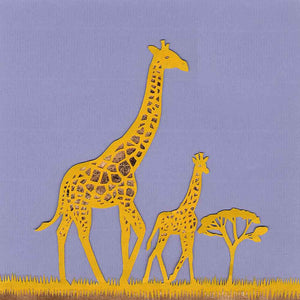 Giraffe with Calf, unframed giclée limited edition print