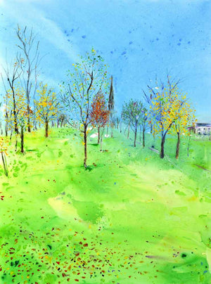 Harrogate in the Fall, unframed original painting
