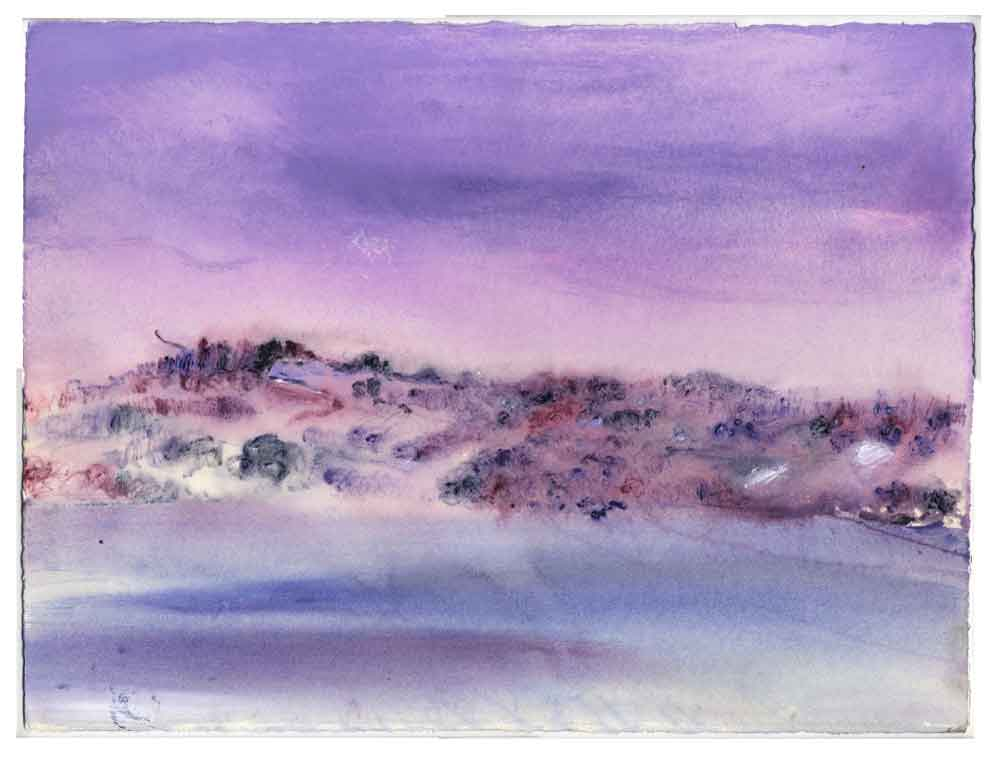Lilac Mist, unframed original painting