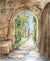 Looking Through the Gate at Hazlewood Castle, unframed Giclée limited edition print