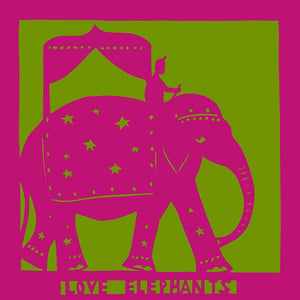 Love Elephants, unframed mounted Giclée limited edition print