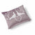 Lovey Dovey Velvet Cushion 41 x 33cm brown grey with white print