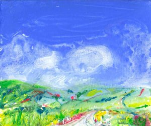 Over the Hills and Dales, unframed original painting