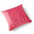Paradise Velvet Cushion 56 x 56cm rasberry pink with pink print