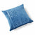 Paradise Velvet Cushion 56 x 56cm navy blue with pale blue print