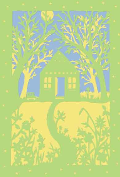 Peace and Quiet, unframed original paper cut
