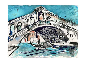 Rialto Bridge in Venice, unframed Giclée limited edition print