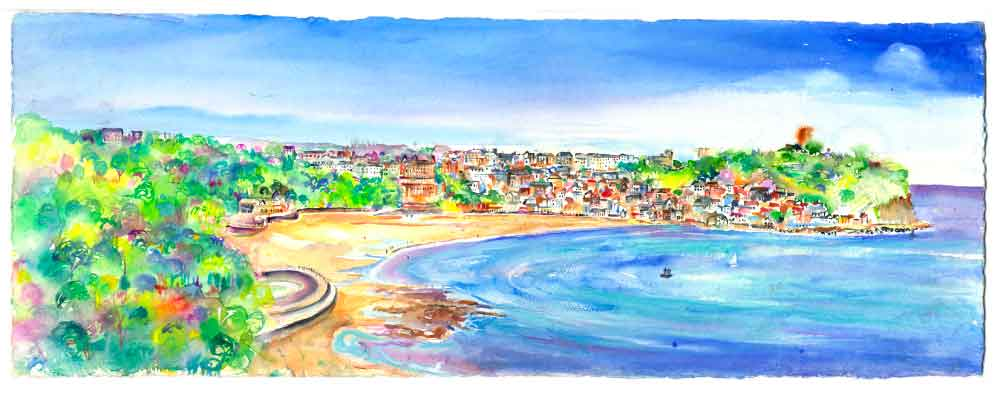 Scarborough South Bay, unframed original painting