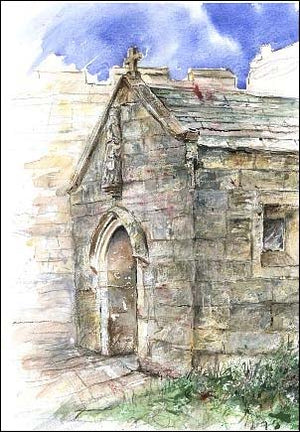 St Leonard's Chapel Entrance at Hazlewood Castle, unframed Giclée limited edition print