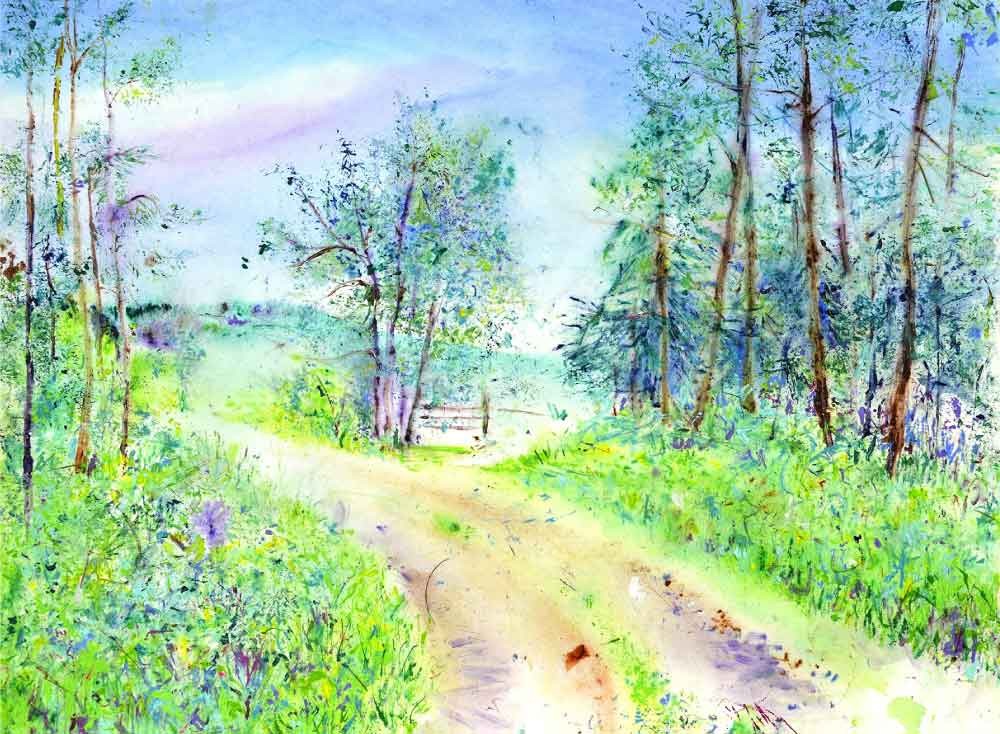 Summer's Pathway, unframed original painting
