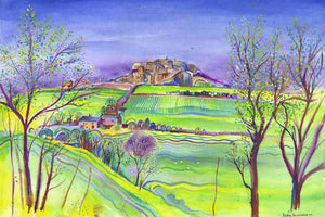 Sunny Almscliffe Crag, unframed Giclée limited edition print
