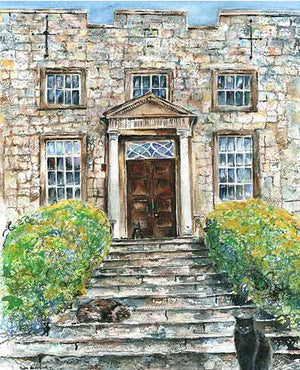 The Great West Hall Entrance at Hazlewood Castle, unframed Giclée limited edition print