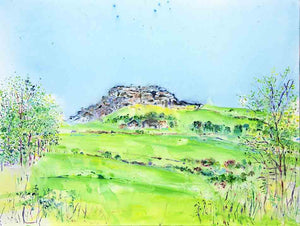 The Joy of Almscliffe Crag, unframed original painting