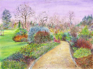 The Winter Walk at RHS Garden Harlow Carr, December, framed original