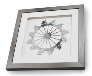 Tour de France, framed limited edition stainless steel artwork